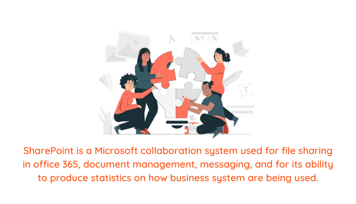 Illustration of sharepoint is a microsoft collaboration system