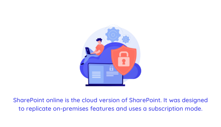 illustration of an employee using SharePoint online